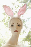 Mannequin Wearing Bunny Ears Photographic Print by Jack Hollingsworth