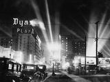 Hollywood Boulevard at Night Photographic Print