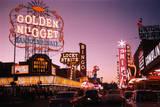 Fremont Street in Las Vegas Lámina fotográfica por Philip Gendreau