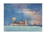 H.M.S. Sydney Commanded by Captain J.C.T. Glossop Stampa giclée