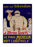 Advertisement for Michelin, Printed by Cornille and Serre, Paris Giclée-vedos