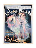 Poster Advertising Loie Fuller as 'Salome' at the Comedie Parisienne Reproduction procédé giclée