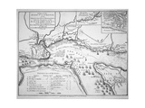 Wolfe's Plan for the Siege of Quebec in 1759, 1780 Giclée-Druck