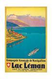 Lac Leman Impressão giclée