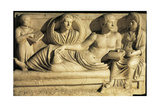 Roman Civilization, Relief Scene Showing Drawing Up of Contract or Will Stampa giclée