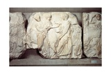 Greek Civilization, Bas-Relief Frieze by Phidias, from South Side of Parthenon, Pentelic Marble Stampa giclée