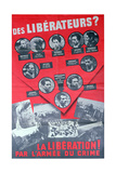 L'Affiche Rouge', Poster Depicting Members of the Manouchian Group, 1944 Reproduction procédé giclée