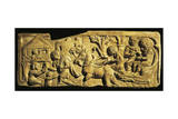 Roman Civilization, Relief Portraying Arrival at 'Mansio', an Official Stopping Place on Roman Road Stampa giclée