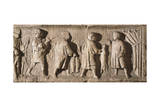Roman Civilization, Farmers Paying Tribute in Landlords House Stampa giclée