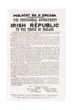 Facsimile of the Proclamation of the Irish Republic, C.1916 Giclée-vedos