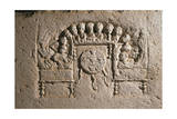 Roman Civilization, Relief Portraying Feast Stampa giclée