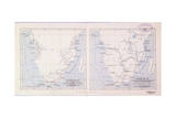 Map of Southern Africa, 1913 - before and after Livingstone Lámina giclée