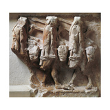 Greek Civilization, Metope Depicting Cattle Raid from Treasury of Sikyon of Delphi Stampa giclée