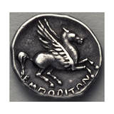 Greek Drachma Depicting Winged Horse Uncovered in Emporium, River Port of Rome, Verso, Greek Coins Stampa giclée