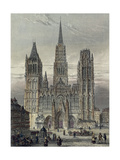 France, Paris, View of the Cathedral in Rouen Reproduction procédé giclée