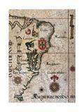 Map of Brazil, 1561 Giclee Print
