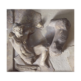 Hercules and Deer, High Relief from Metope of Treasury of Athenians in Delphi, Greece Giclee Print