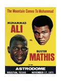 Poster Advertising Muhammad Ali Vs. Buster Mathis, 17th November, 1971 Giclée-Druck