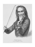 Portrait of Niccolo Paganini Reproduction procédé giclée par Stefano Bianchetti