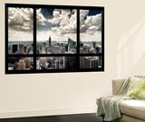 View of Manhattan, New York from Window Veggmaleri av Steve Kelley