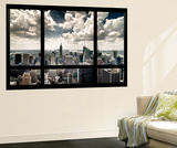 View of Manhattan, New York from Window Mural por Steve Kelley