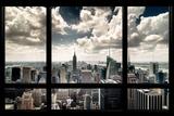 View of Manhattan, New York from Window Fotografisk trykk av Steve Kelley