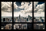 View of Manhattan, New York from Window Stampa fotografica di Steve Kelley