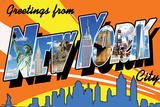 Nyc Postcard Posters