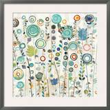 Ocean Garden I Square Prints by Candra Boggs