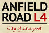 Anfield Road L4 Liverpool Street Poster