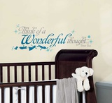 Peter Pan Wonderful Thought Peel and Stick Wall Decals Autocollant mural