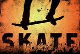 Skateboarding Orange SporTSPoster Photographie