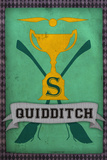 Quidditch Champions House Trophy Slytherin Poster