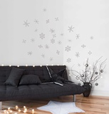 Snowflakes - Silver Adesivo de parede