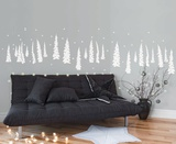 Trees In The Snow - White Adesivo de parede