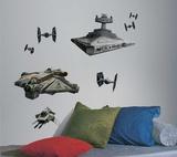 Star Wars Rebel & Imperial Ships Peel and Stick Giant Wall Decals Veggoverføringsbilde
