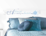 Cinderella A Dream is a Wish Peel and Stick Wall Decals Wandtattoo