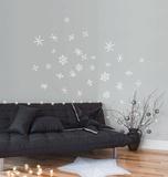 Snowflakes - White Adesivo de parede
