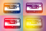 Audio Cassette Tapes Flash Pop Art Print Poster Plakater