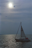 Sailboat on Lake Michigan, Indiana Dunes, Indiana, USA Photographic Print by Anna Miller