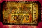 Freak Show Ticket 2 Placa de plástico