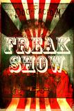 Freak Show Placa de plástico