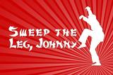 Karate Kid Movie Sweep the Leg Johnny Poster Print Posters
