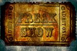 Freak Show Ticket 5 Placa de plástico