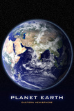 Planet Earth From Space Eastern Hemisphere Photo Poster Láminas