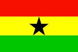Ghana National Flag Poster Print Plakater