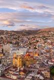 Mexico, Guanajuato. Overview of City Fotoprint van Jaynes Gallery