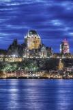 Canada, Quebec, Quebec City at Twilight Fotografisk trykk av Rob Tilley