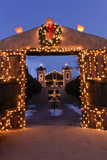 Chimayo, New Mexico, Usa. Santurario De Chimayo Lit Up for Christmas Photographic Print by Julien McRoberts