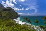 A View of the Na Pali Coast from the Kalalau Trail Fotografisk trykk av Andrew Shoemaker